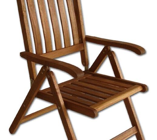 Krzesło Drewniane Składane Wielopozycyjne Villa Toscana 88132