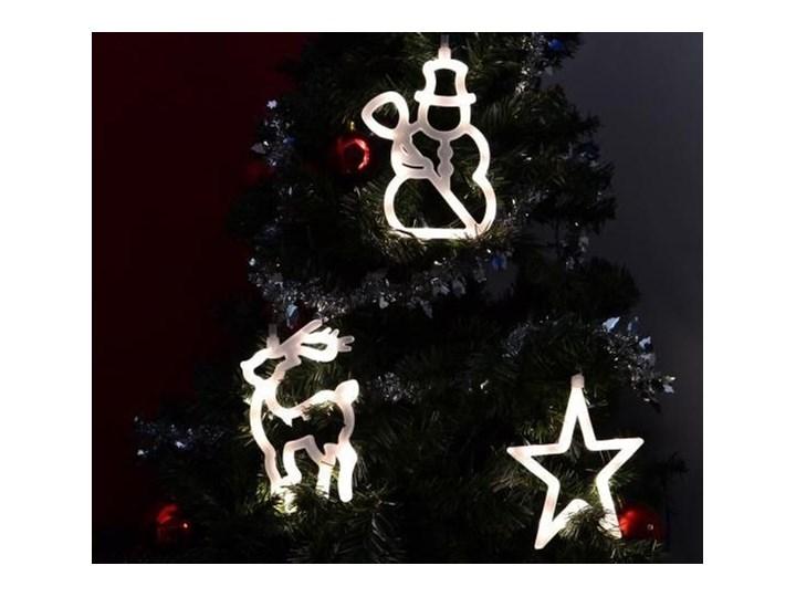 Zestaw świątecznych Ozdób Na Okno Led Bałwan Gwiazdka Renifer