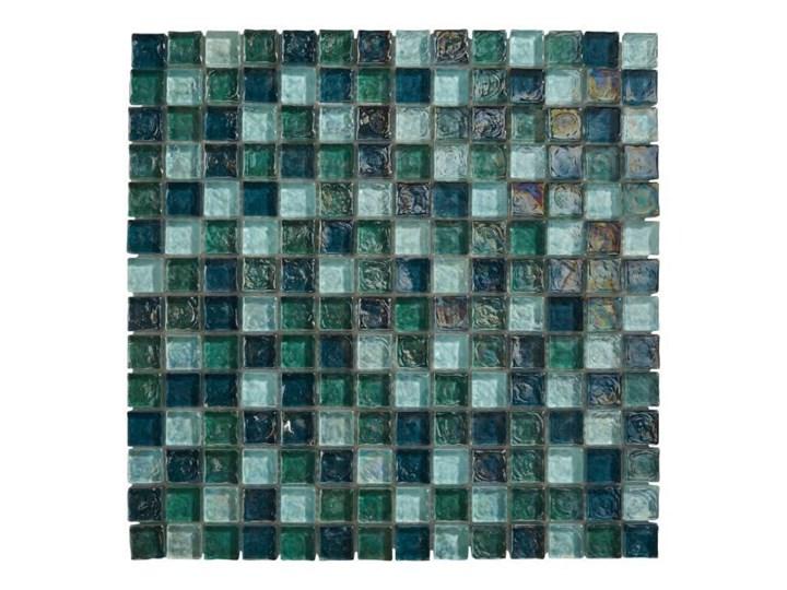 Mozaika Bressia Colours 30 6 x 30 6 cm zielona Płytka dekoracyjna Kwadrat Przeznaczenie v2 Płytki łazienkowe