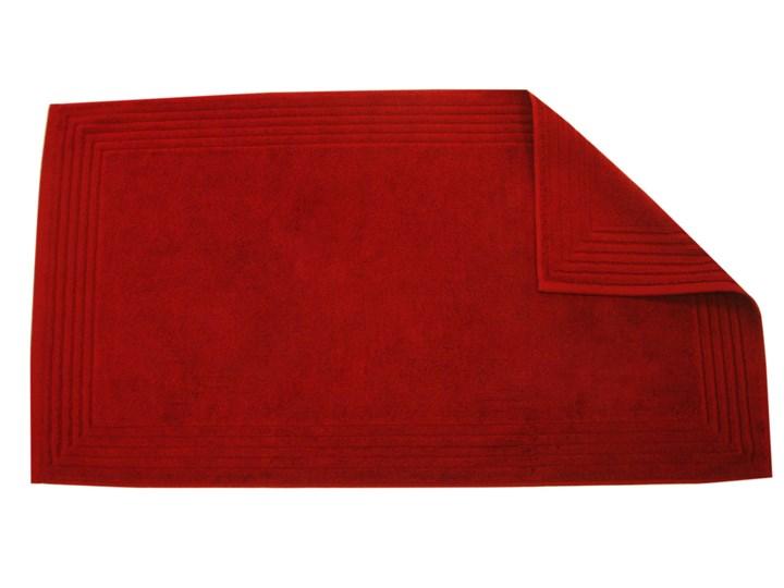 Mata łazienkowa Blanc Des Vosges UNI Burgundowa 50x90 cm Bawełna Prostokątny tkanina Styl klasyczny