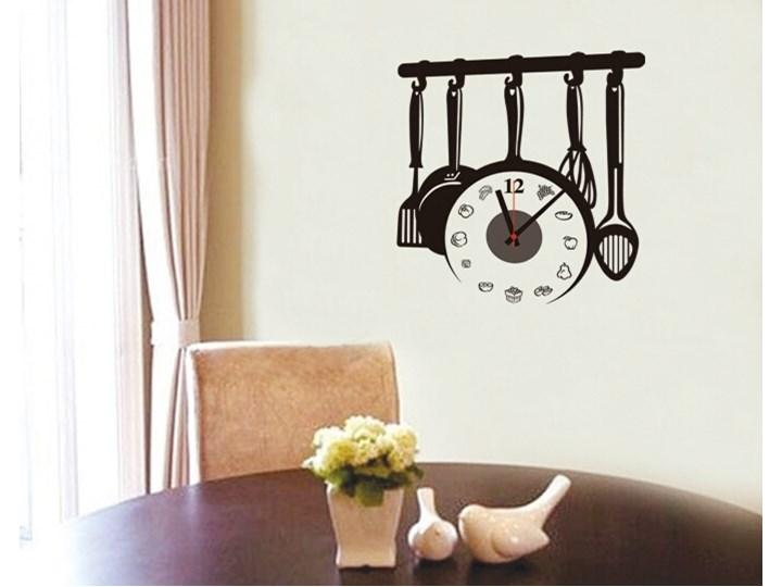Naklejany Zegar ścienny Do Kuchni