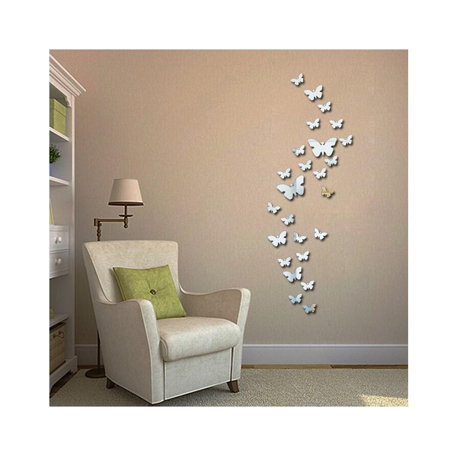 Naklejki Na ścianę Lustrzane Motyle 3d Ms 0003 Naklejki Zdjęcia