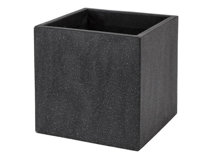 Nietypowy Okaz Donica Verve efekt cementu 40 cm antracyt - Donice ogrodowe FD53