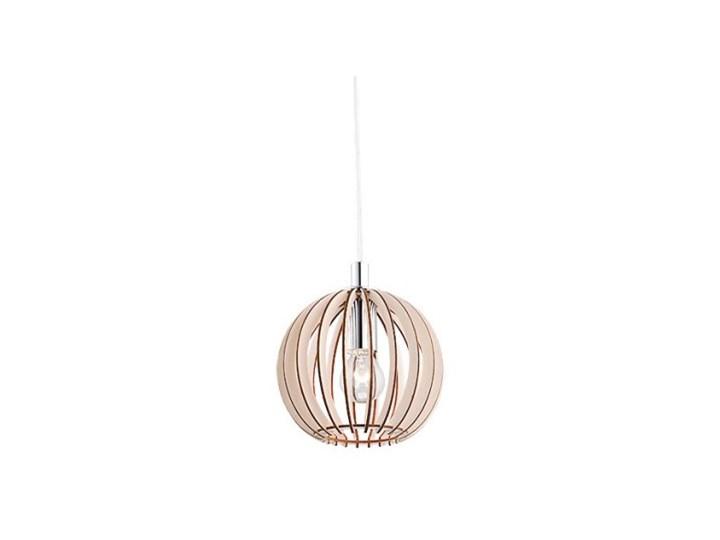 59fe8e187981 PORTORYKO lampa wisząca 1 x 40W E14 sufitowa drewniana kula nowoczesna  ARGON 3678
