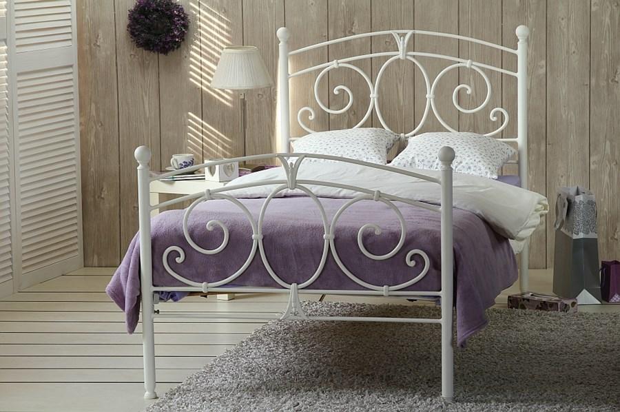 łóżko Metalowe Pojedyncze Sylvia Dwa Szczyty