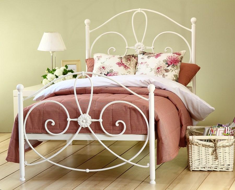 łóżko Kute Jednoosobowe Wivian Z Dwoma Szczytami
