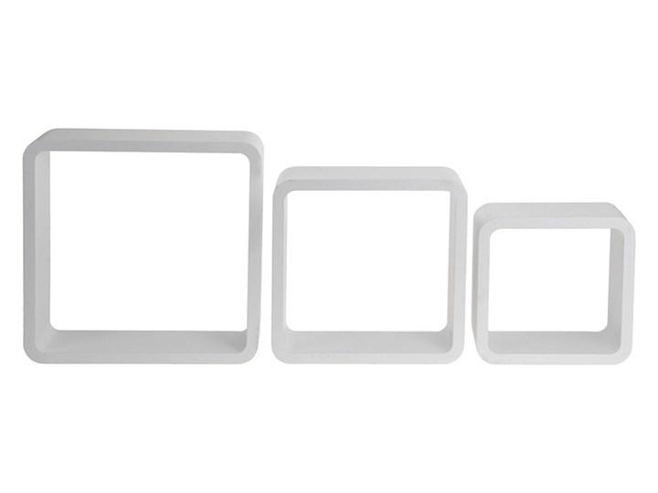 Kwadratowe Półki ścienne Białe