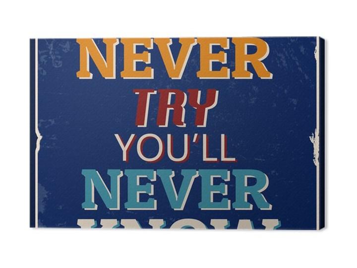 Obraz Na Płótnie Jeśli Nie Spróbujesz Nigdy Nie Będziesz Wiedzieć Plakat