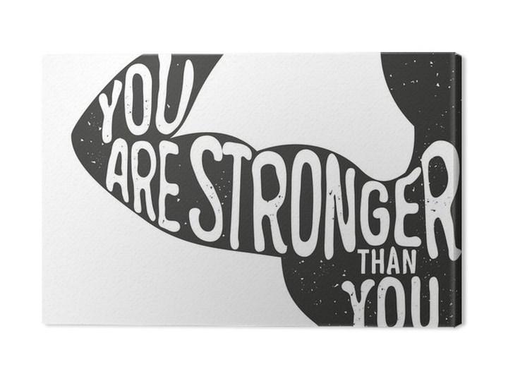 Obraz Na Płótnie Jesteś Silniejszy Niż Myślisz Napis Rocznika Typograficzny Plakat Mo