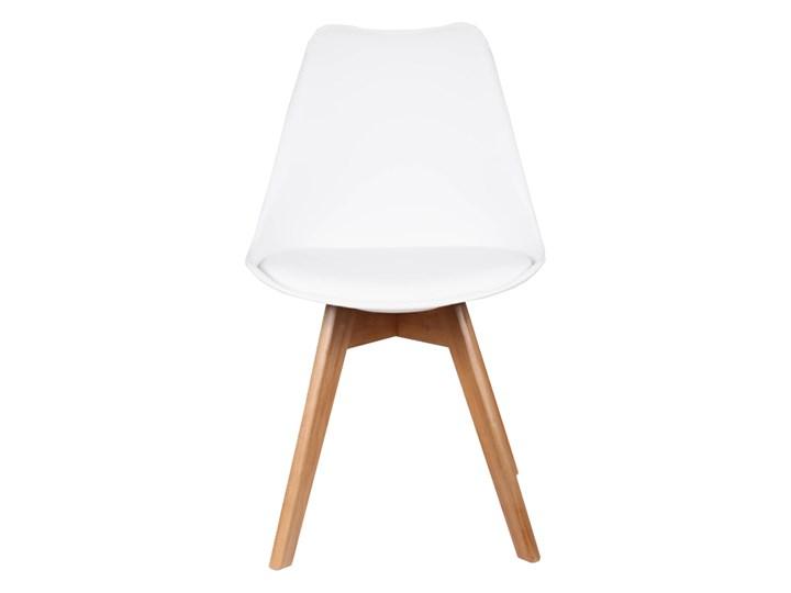 NOWOCZESNE KRZESŁO 53E-7 BIAŁE Tworzywo sztuczne Szerokość 48 cm Skóra Krzesło inspirowane Głębokość 42 cm Drewno Tkanina Styl Skandynawski