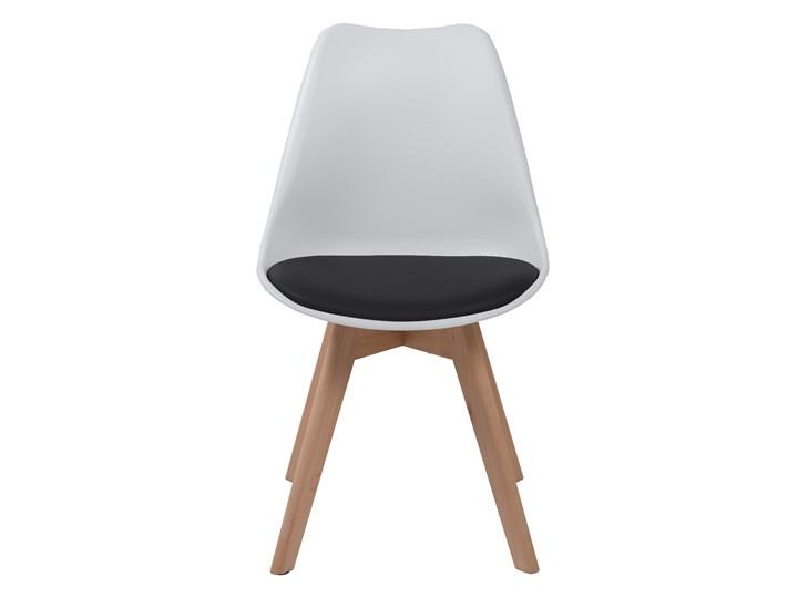 NOWOCZESNE KRZESŁO 53E-7 BIAŁO-CZARNE Drewno Kategoria Krzesła kuchenne Tworzywo sztuczne Kolor Czarny