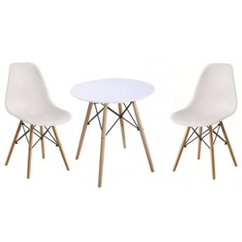 Zestaw stół okrągły Milano Paris 60cm + krzesła Enzo