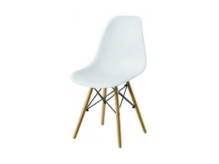 Krzesło Enzo Dsw Paris bukowe nogi białe