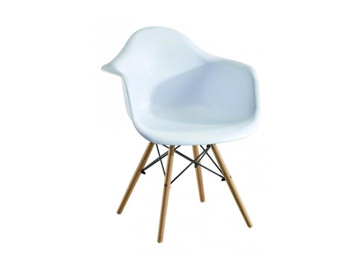 Fotel Skandynawski Milano Paris biały Wysokość 80 cm Metal Tworzywo sztuczne Głębokość 45 cm Fotel inspirowany Styl Nowoczesny