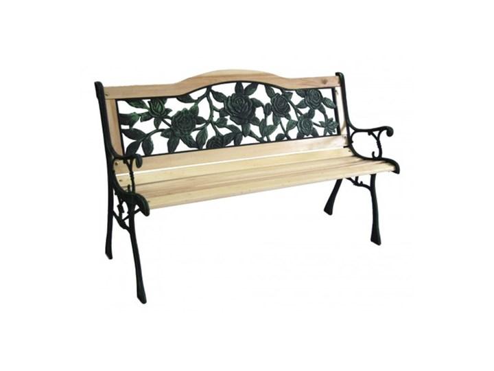Ławka ogrodowa żeliwna RÓŻA Tworzywo sztuczne Drewno Drewno Tworzywo sztuczne