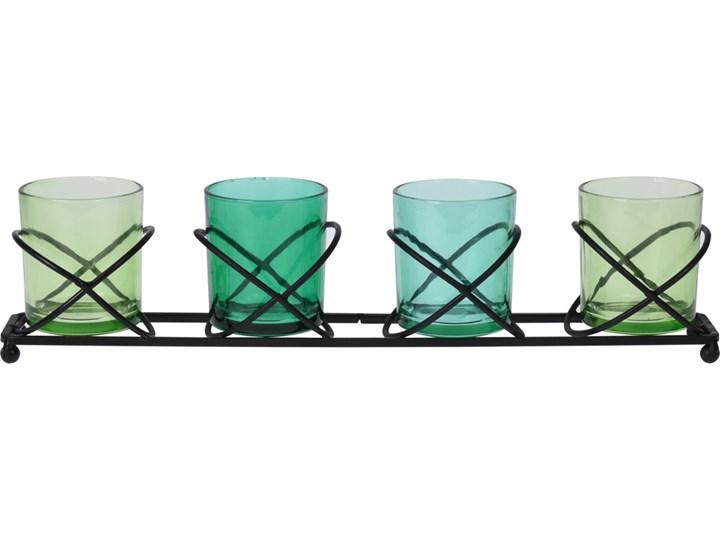 Zestaw czterech dekoracyjnych świeczników