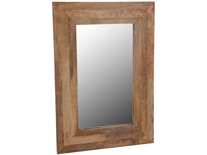 Dekoracyjne lustro ścienne w drewnianej oprawie - 70 x 50 cm