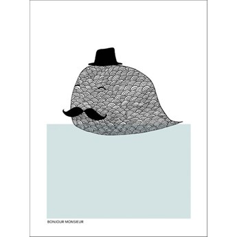 Plakat Bonjour Monsieur Magdalena Tyboni