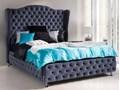 Eleganckie łóżko tapicerowane do sypialni VALENTINO w stylu glamour Rozmiar materaca 140x200 cm
