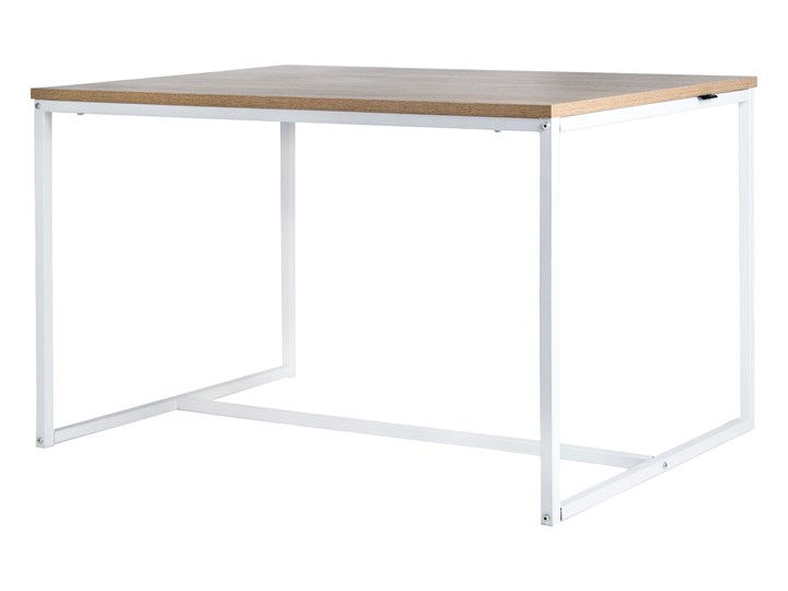 Wspaniały Stół do jadalni Industrial 120x80 cm dąb sonoma biały - Stoły BW28