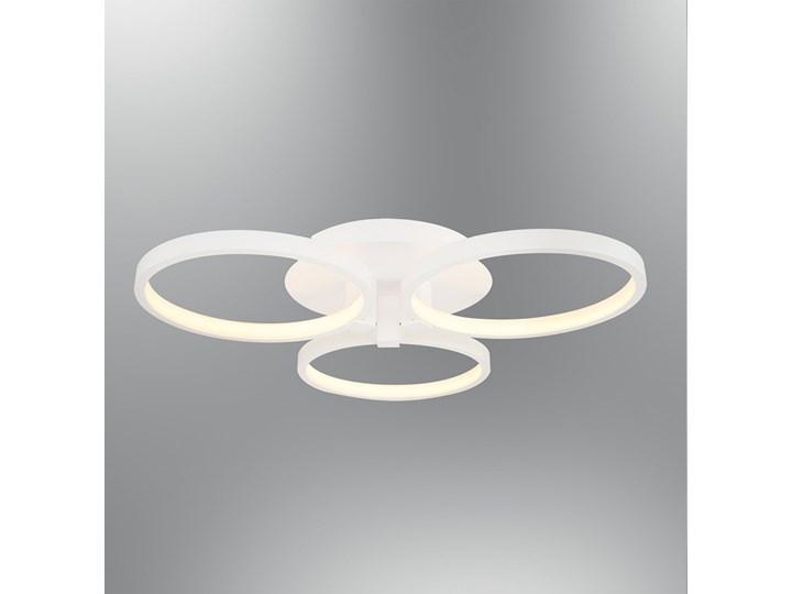 Biała Lampa Led Plafon Ledowy Ozcan 5636 3 Salon Kuchnia łazienka