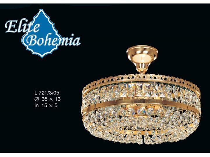 Plafon kryształowy na 3 żarówek - Elite Bohemia Ilość źródeł światła 3 źródła Szkło Styl glamour