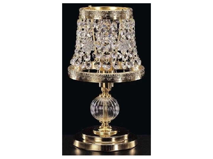 Lampka nocna z kryształkami Swarovskiego - Elite Bohemia Lampa nocna szkło Styl glamour