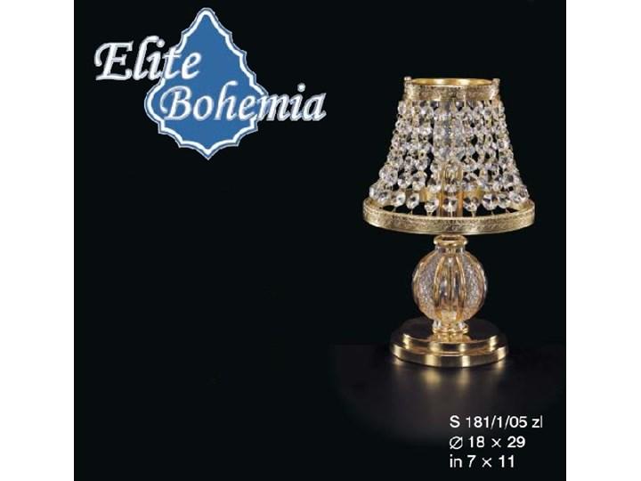 Lampka nocna z kryształkami Swarovskiego - Elite Bohemia szkło Lampa nocna Styl glamour