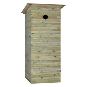 Toaleta drewniana 80 x 90 cm wychodek SOBEX