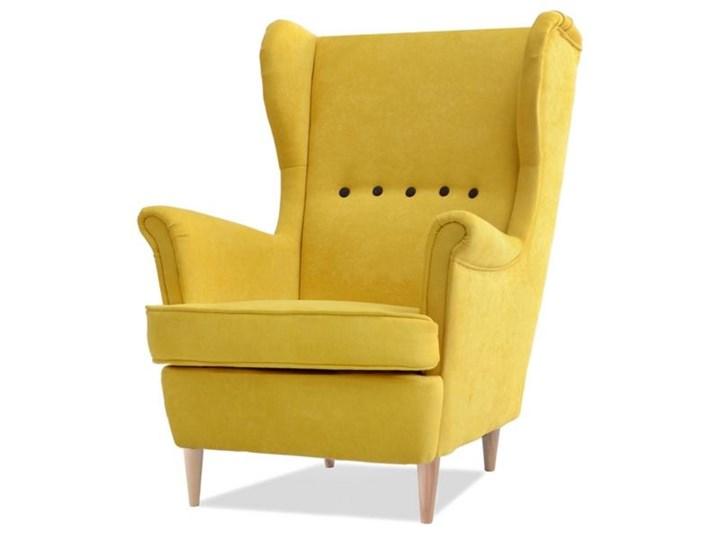W Ultra Fotel Malmo żółty uszak w nowoczesnym stylu - Fotele do salonu HQ28