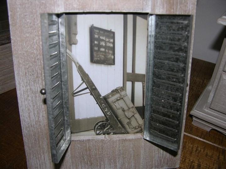 """Ramka na zdjęcia """"Fenstarladen"""" Drewno Rozmiar zdjęcia 19x24 cm Metal Kategoria Ramy i ramki na zdjęcia"""