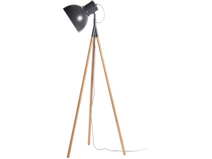 Lampa podłogowa na drewnianych nogach Industry 145 cm Lampa sztalugowa Styl Nowoczesny