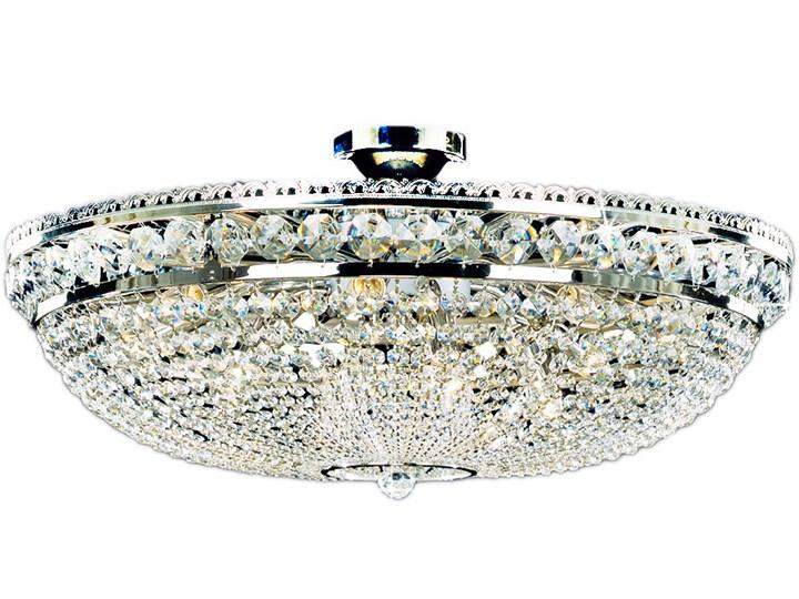 Żyrandol kryształowy Bordura Nickel 81x42 cm Szkło Ilość źródeł światła >4 źródeł