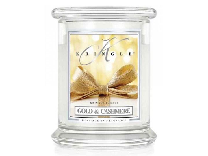 Kringle Candle - Gold & Cashmere - średni, klasyczny słoik (411g) z 2 knotami