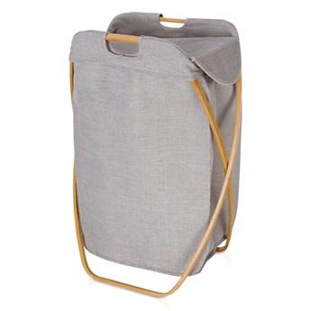 Składany kosz na bieliznę Moeve Bamboo Grey