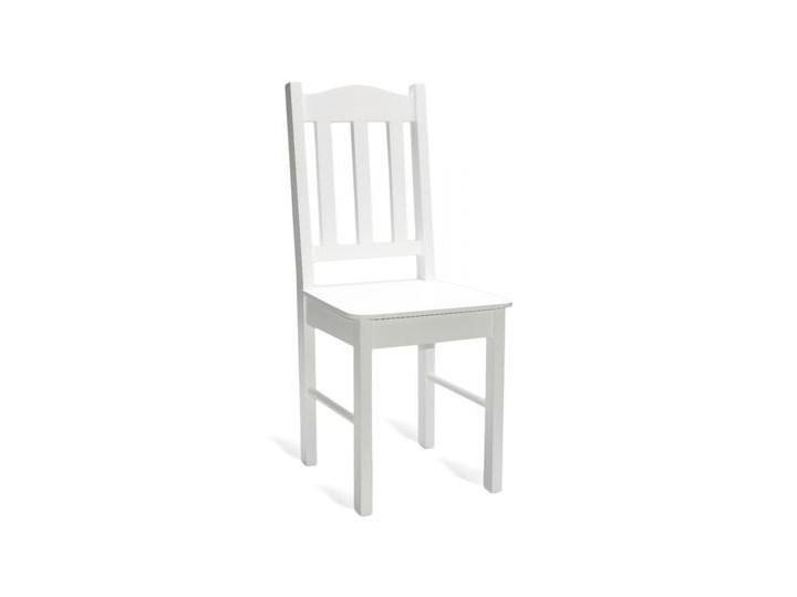 Ogromnie Krzesło do kuchni białe/krem/polysk model 12 - Krzesła kuchenne ET12