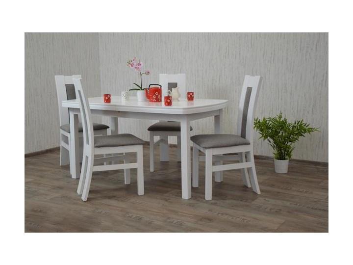 Stół 4 Krzesła Mdf Białykrem