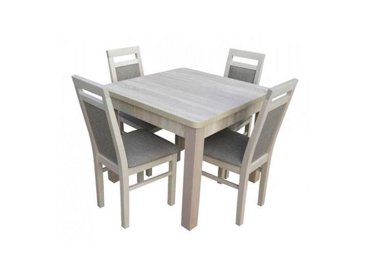 Stół Kwadratowy Rozkładany Do 190cm 4 Krzesła Stoły Z
