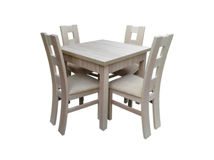 Stół Kwadratowy Rozkładany Do Salonu 4 Krzesła Stoły Z Krzesłami