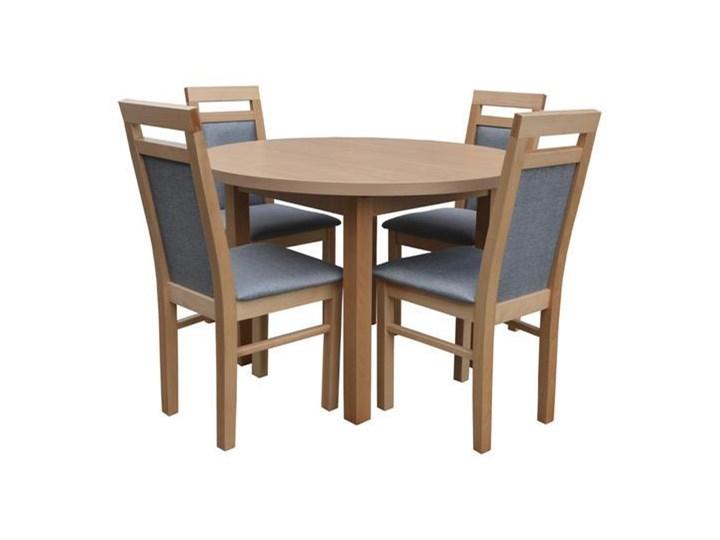 Stół Okrągły 4 Krzesła Zestaw Do Jadalni