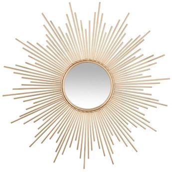 Dekoracyjne lustro ścienne GOLD SUN Ø 100 cm