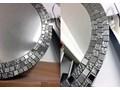 Lustro Aurea Silver okrągłe szkło Ścienne Styl klasyczny