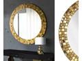 Lustro Aurea Gold Okrągłe Ścienne Lustro z ramą Pomieszczenie Przedpokój Pomieszczenie Łazienka