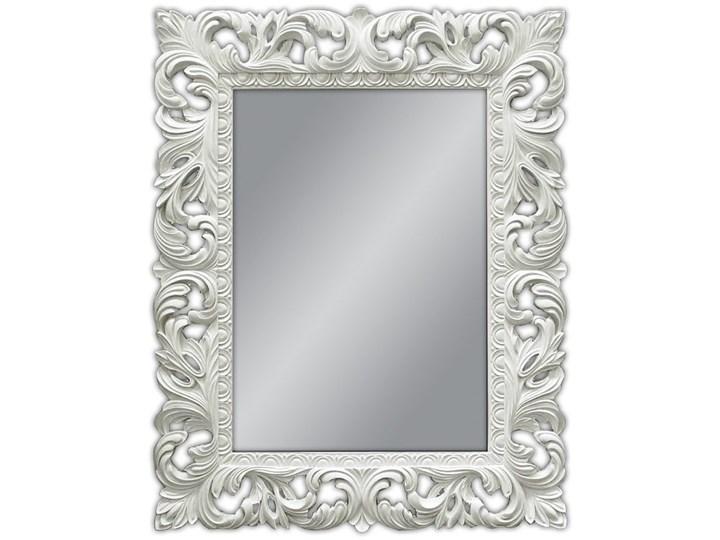 Lustro białe glamur Barocco 58 Prostokątne Lustro z ramą Ścienne Styl Nowoczesny