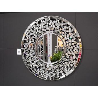 Lustro z kryształkami Angelitta Cristall okrągłe