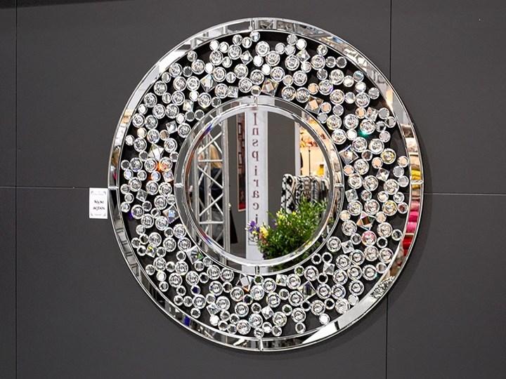 Lustro z kryształkami Angelitta Cristall okrągłe Ścienne Lustro bez ramy Kategoria Lustra Pomieszczenie Sypialnia