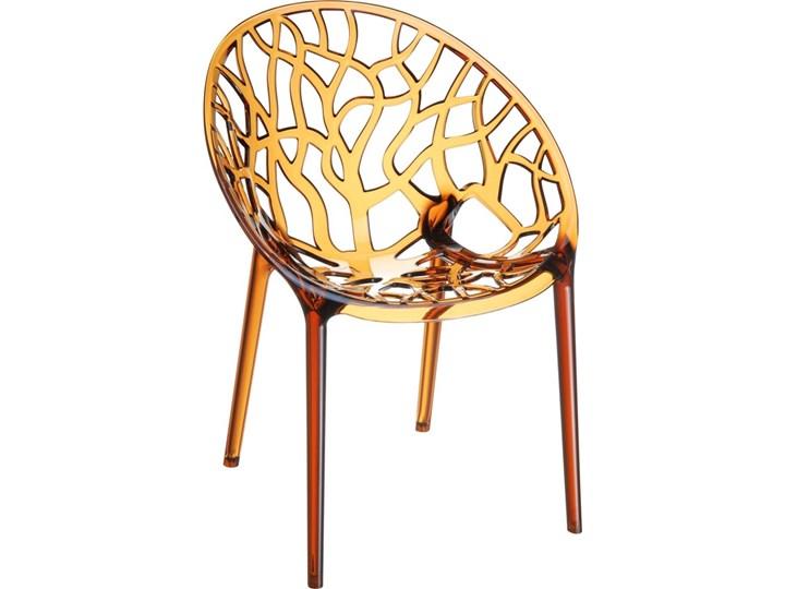Krzesło Coral bursztynowe Wysokość 80 cm Głębokość 60 cm Szerokość 59 cm Styl Glamour Styl Industrialny