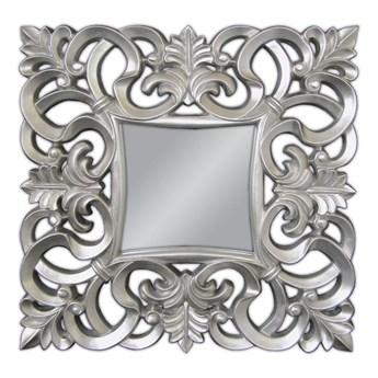 Lustro srebrne Barocco 21    ( 76  x 76 ) Glamur