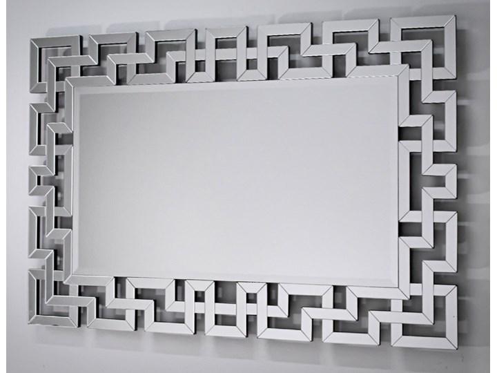 Lustro rama z luster wzór  Grecco Mirror Glamur Lustro bez ramy Ścienne Prostokątne Pomieszczenie Salon