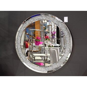 Lustro z kryształkami Angelitta II Glamur